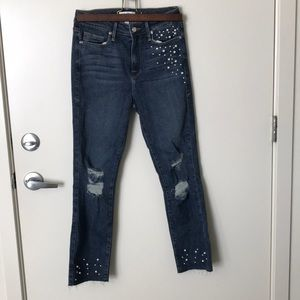 Good American Distressed Pearl Jeans